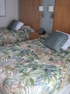 2 full size beds comfortably sleep up to 4
