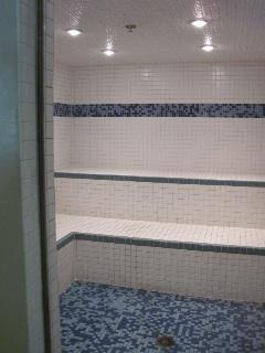 Steam & Sauna rooms, on 3rd floor, too. Sign out pool towels for beach, hiking, or for use in studio