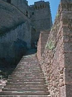 Steps up to the famous historic Acropolis