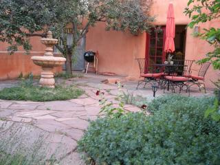 Private Patio/Garden fanced in Adobe walls - Luxury Adobe, Walk Everywhere,April Now Available! - Santa Fe - rentals