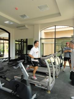 Well equipped fitness center. No additional charge.