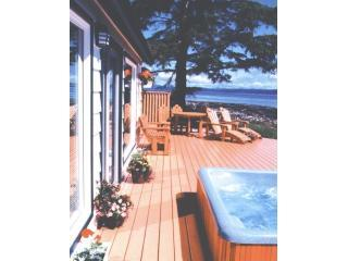 Seaside Cottage on the ocean hot tub gas fireplace, Campbell River