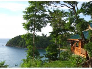 Castara Retreats Lodge above the bay