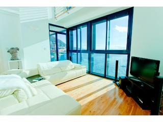 Holiday Apartment Gibraltar - Lounge with door to Balcony affording excellent views of the Bay