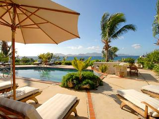 Overlooking the mountains of St. Martin, this secluded cove villa is perfect for sunning or swimming. RIC COY, Anguila
