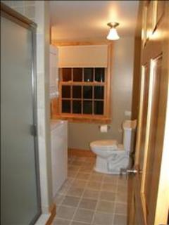 Bathroom with stall shower