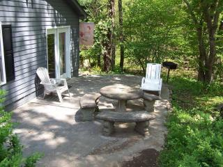 Patio w/ Table, Chairs, and Charcoal Grill