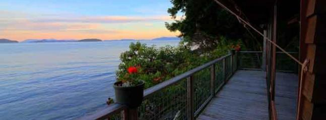 Sea Dream - Deck and View.  Spectacular sunsets.  Find more pictures alldreamcottages