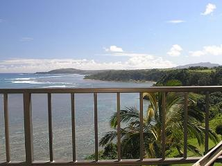 Sealodge D8: Top floor, very private 1br/1ba, oceanfront and Bali Hai views, Princeville