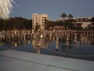 Marina view--our unit is an end unit in \'B\' Bldg (on left) w/ boatslip #3