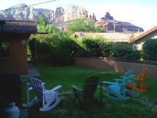 Sedona backyard mountain view