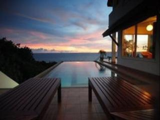 View from Master Bedroom - Pool overlooking sunset and sea.  - Large Villa in Koh Lanta with Pool,  Near Beach - Koh Lanta - rentals