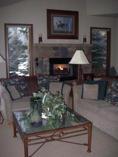 Great room with gas fireplace.
