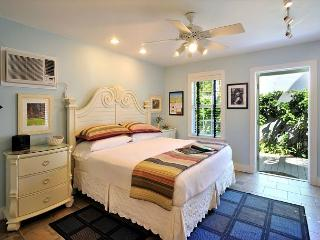 King Bed Room With Air Conditioning, Ceiling Fan and Access to O