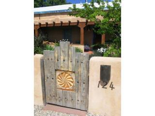 Entrance to charming Kiva - Gorgeous historic adobe filled with original art - Taos - rentals