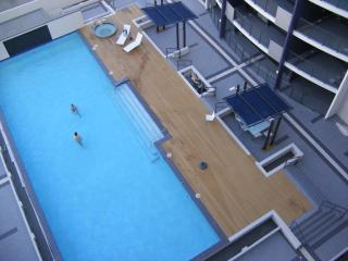 22 Metre Pool with sunlounges, outdoor hot spa and gym