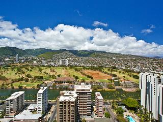 Waikiki Banyan #3605 T-2 - Views of mountains & Ala Wai Canal - Waikiki city lights sparkle at night - Waikiki vacation rentals