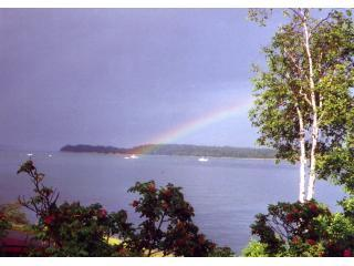 Rainbow from cottage deck