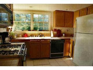 Full Kitchen with Refrigerator, Stove, Microwave, Dishwasher, and all utensils
