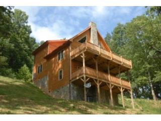 Back view - Appalachian Retreat:Boone area Luxury Log Cabin - Boone - rentals