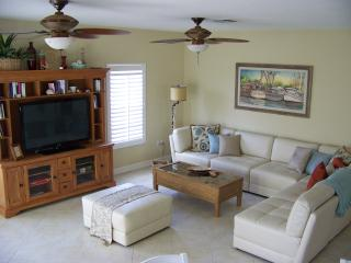 The lounge with fifty inch flat screen TV