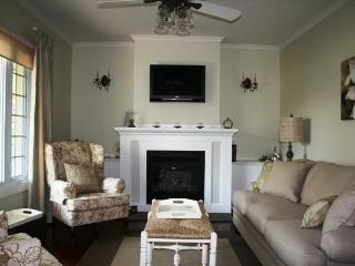 Living room with Gas fire and flat screen TV, Free Cable and DVD Player With Films for a Cozy Night