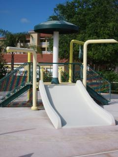 Mini waterpark with slide for the kids...