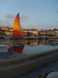Hobie Cat on the Canal