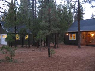 View of Cabin through the trees