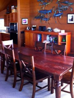 Dining table for eight!