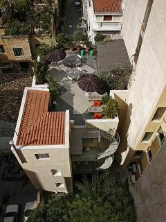 Panormaic view of the roof top terrace