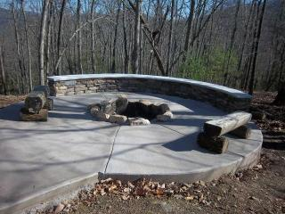 FirePit with Long Range and Forest Views