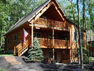 Captivating 4 Bedroom Log home with private hot tub!, Oakland