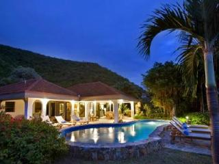 Family friendly Villa On The Beach offers ocean views, pool, shared tennis court and watersports, Virgin Gorda