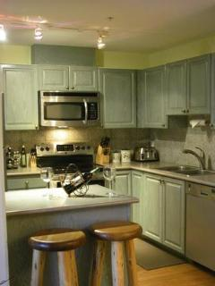Full gourmet kitchen with beautiful hardwood floors, appliances and basic food staples. We have included every amenity...