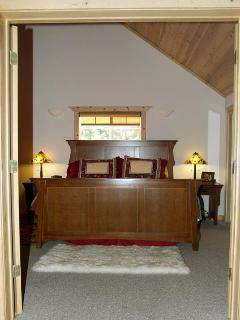 Double doors lead into the master suite