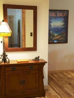 The entryway - please sign the guestbook!