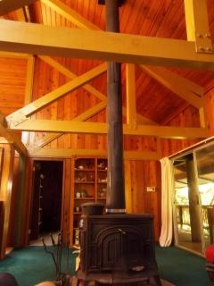 Unique Timber Beam Construction with Poles and Western Red Cedar.. Unique to find this in Hawaii.