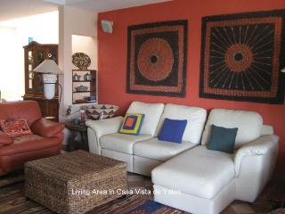 Relax in the comfortable living room and enjoy TV, Dvd's, games and more.