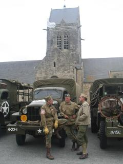 Ste Mere Eglise during 6th June celebrations