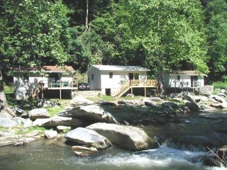 River View Cabins on Stocked Trout River in WNC, Chimney Rock