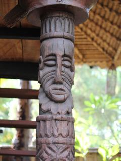 Sasak carvings at one of the 'Guest Houses'