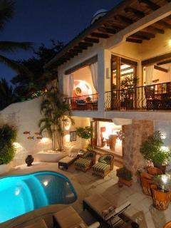 Front of house open to ocean