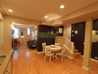 Grand open floor plan, great for entertaining.....