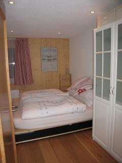 Bedroom with \'Swiss twin\'