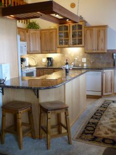 Granite topped counters