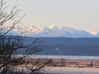 Spectacular mountain, Skagit Bay, and island views
