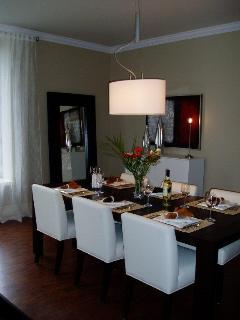 Beautiful large elegant dining room.
