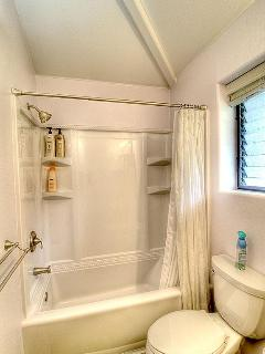 Kope Cottage - All new batroom with Tub/Shower unit - tub is deep enought for a real soak.