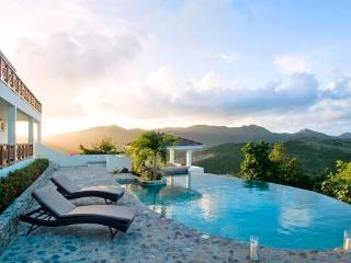 VICTORIA...3 BR affordable St Martin rental villa, panoramic views, Oyster Pond